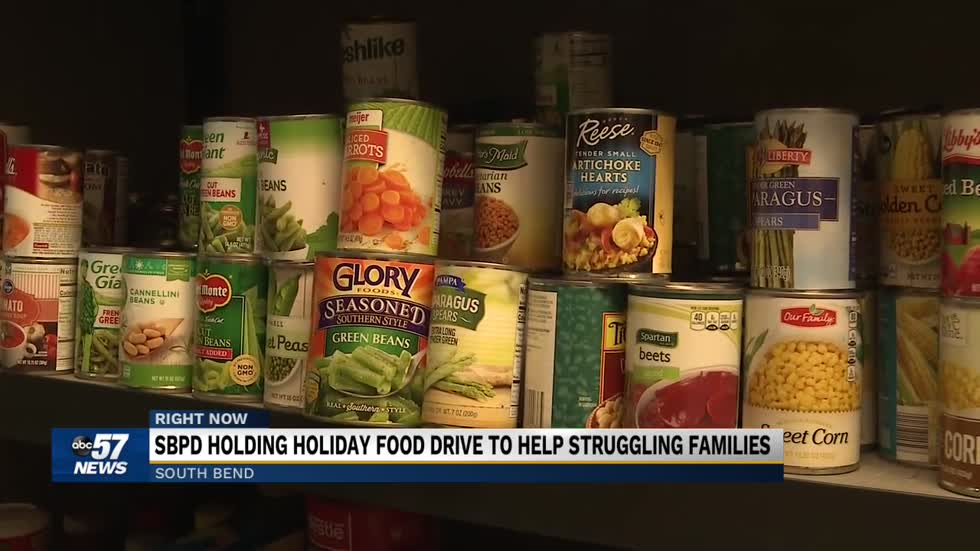 South Bend Police Department asking for public's assistance in holiday season food drive