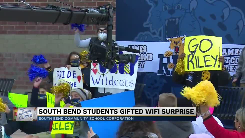 South Bend students gifted Wifi surprise