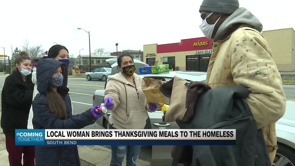 South Bend Woman Gives Thanks by Giving Back