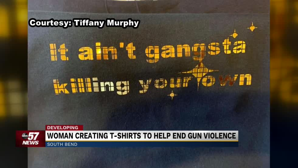 South Bend Woman makes T-Shirts to 'change the perspective' on city violence