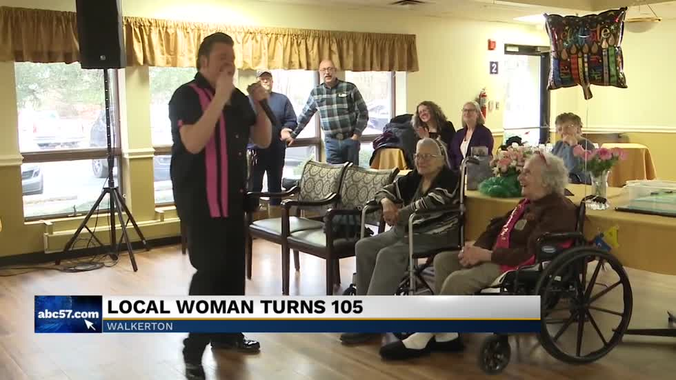South Bend woman turns 105 years old, celebrates birthday