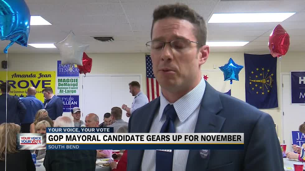 South Bend's GOP Mayoral candidate gears up for November's general election