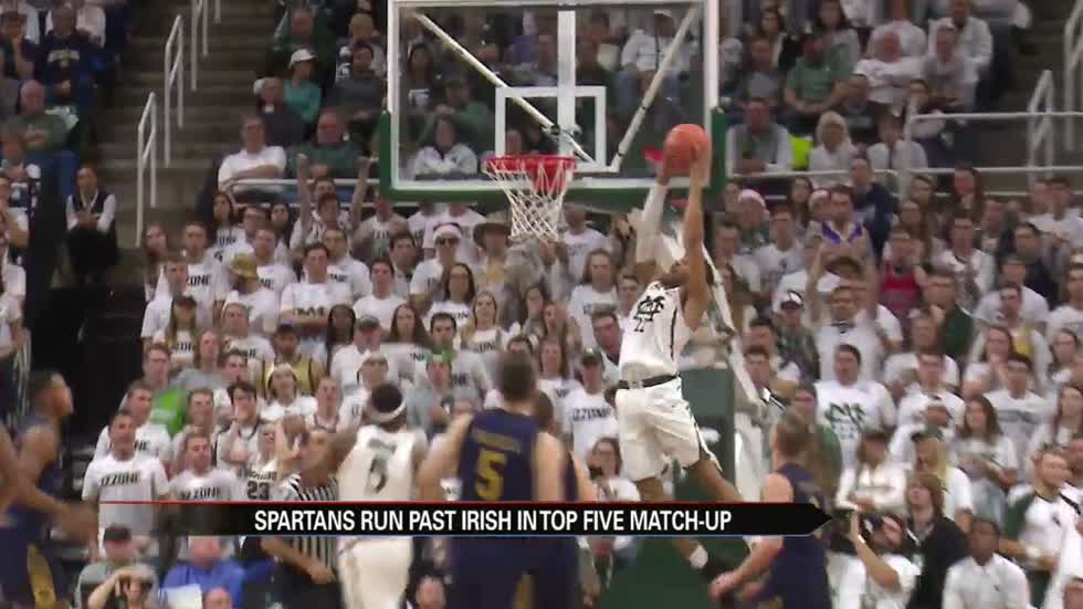 Spartans run past Irish in top-five matchup