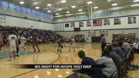 St. Joe and Marian split eventful 'Holy War' double-header
