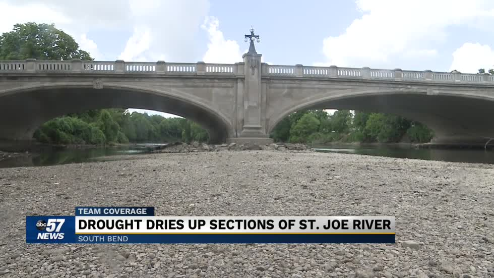 St. Joe River levels in South Bend plummeting during drought