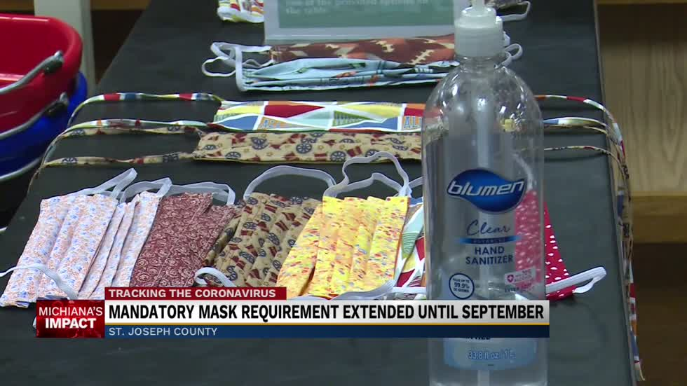 St. Joseph County will require face masks through September 7