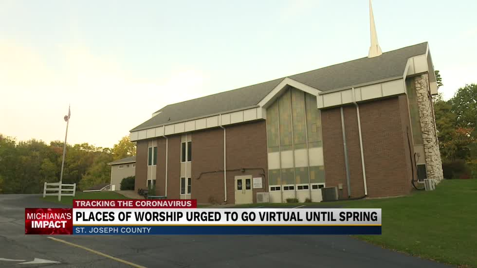 St. Joseph County Health Department recommends places of worship have virtual only services until March 2021