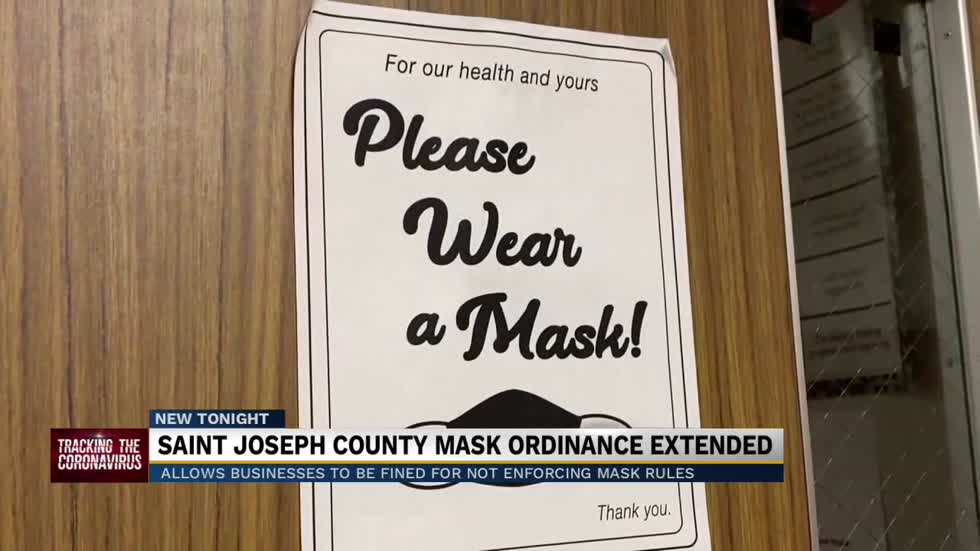 St. Joseph County mask ordinance extended