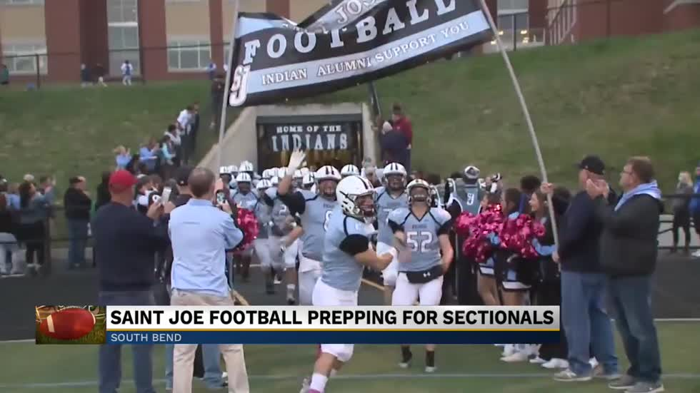 St. Joseph High School football team prepares for sectionals