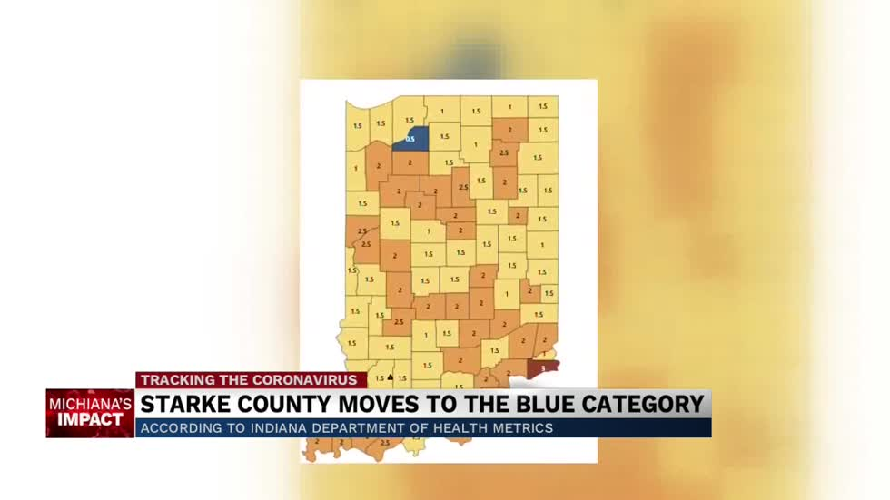 "Starke County downgraded to ""blue"" Covid metric category"
