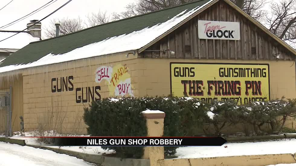 Stolen vehicle crashes into The Firing Pin gun shop and suspects steal several firearms