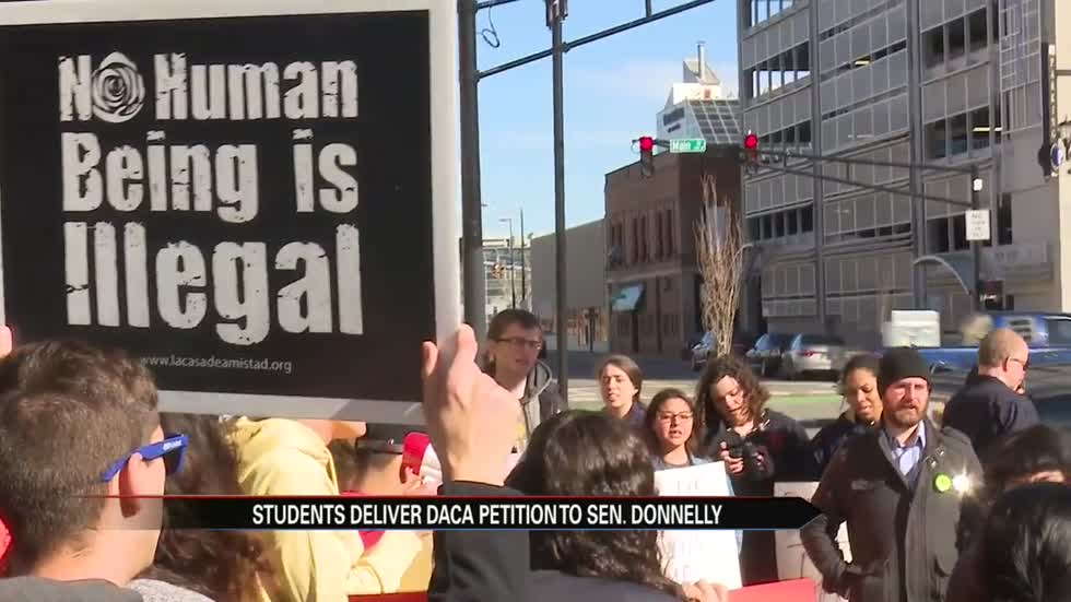 Students rally in South Bend for Dream Act protections
