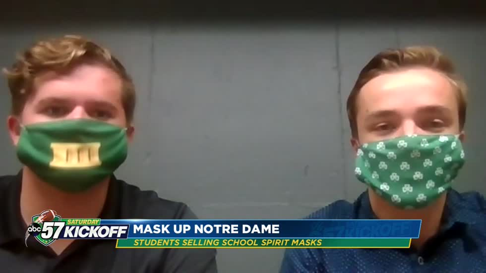 Notre Dame juniors launch website selling custom face masks