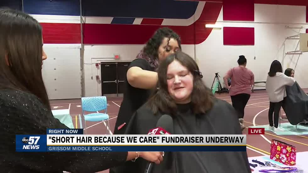 Students, teachers donating hair at Grissom Middle School for a good cause