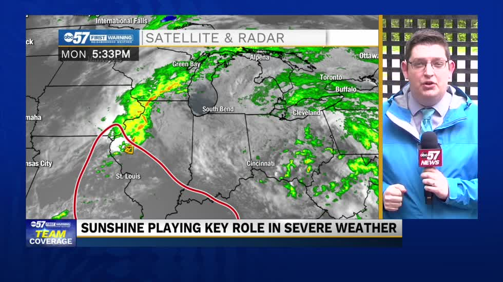 Sunshine key to future storm development