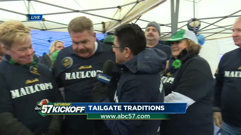 Tailgate Traditions: Parents of Notre Dame players gather for Senior Day