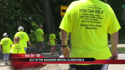 Taking steps out of the shadows: Mishawaka walk raises mental illness awareness