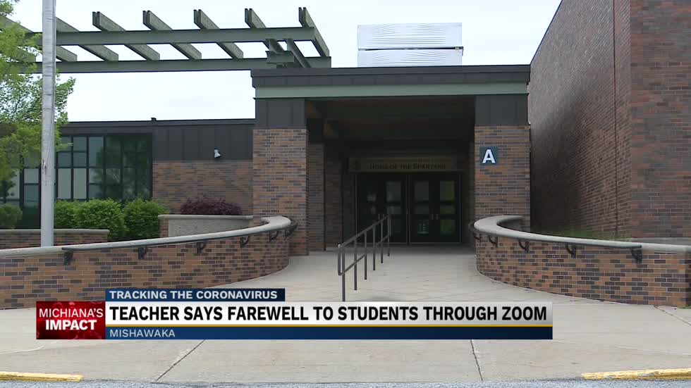 Teacher says farewell to students through Zoom