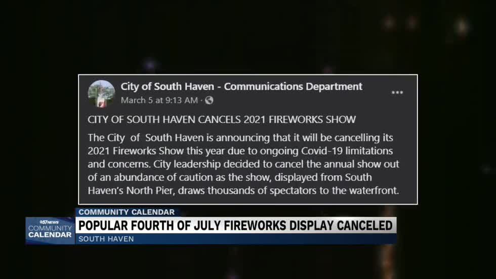 The City of South Haven canceling 2021 fireworks display