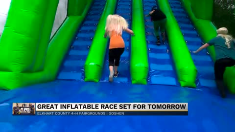 The Great Inflatable Race bounces into the Elkhart 4-H Fairgrounds