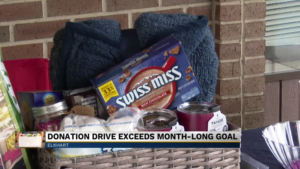 The month long donation drive for Faith Mission wraps up in Elkhart