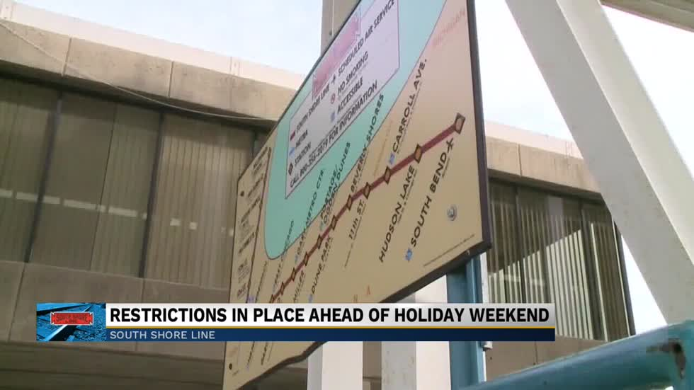 The South Shore Line will have restrictions ahead of Labor Day