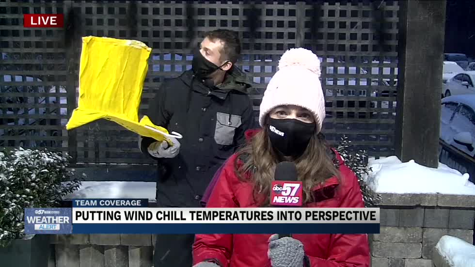 The danger of wet clothing and negative wind chills