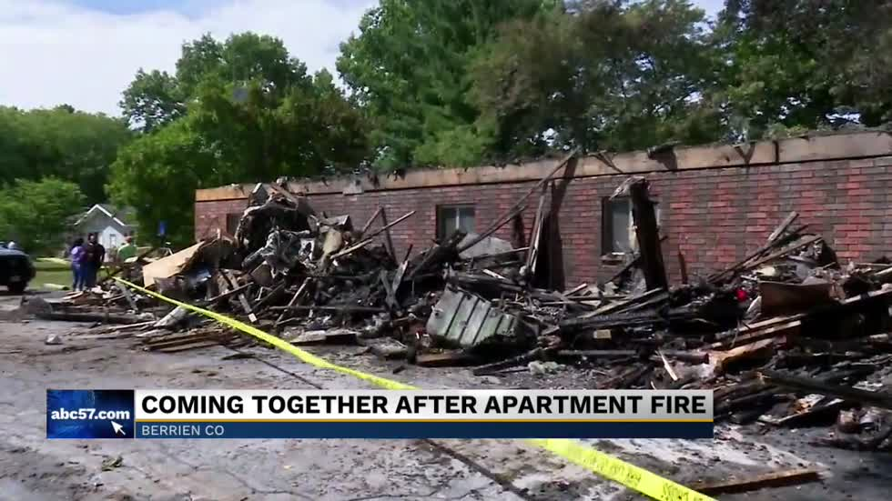 Thousands lost in Berrien Springs apartment fire, families pick up the pieces