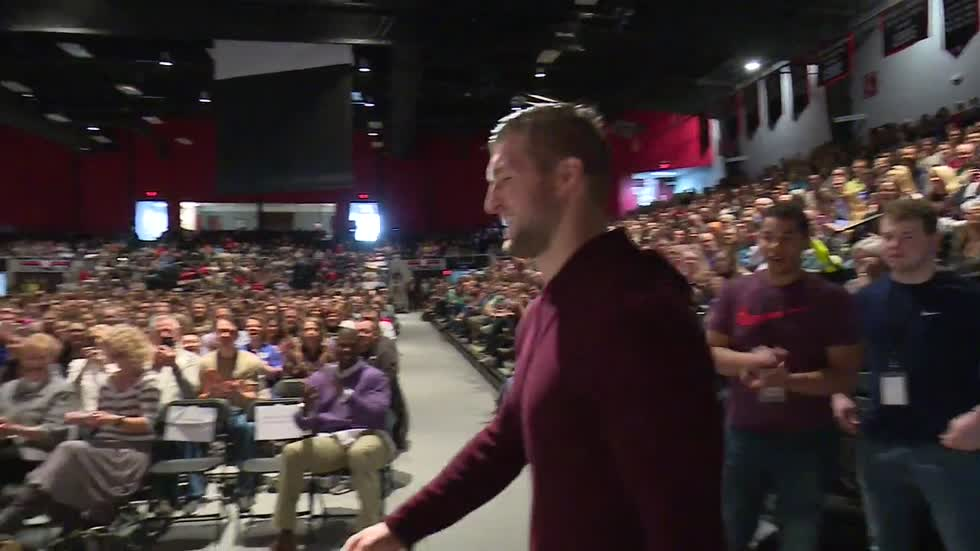 Tim Tebow visits Grace College to cap career week