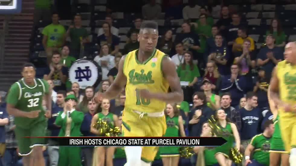 TJ Gibbs scores career high as Irish cruise past Chicago State