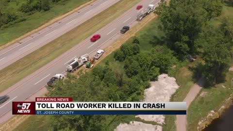 Toll Road worker killed in crash on the Indiana Toll Road