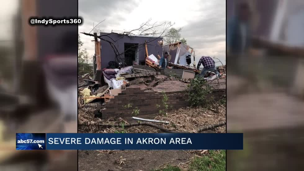 Tornado touches down near Akron, Indiana