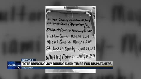 Tote bringing joy during dark times for dispatchers