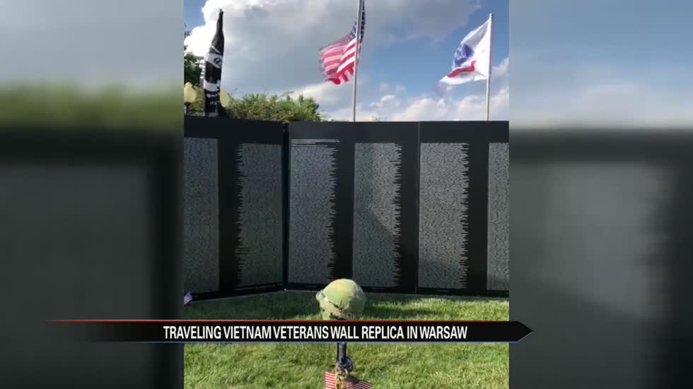 Traveling Vietnam Wall replica visits Warsaw