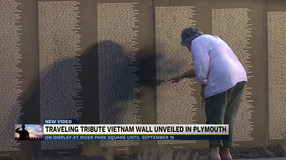 Traveling Vietnam War memorial unveiled in Plymouth