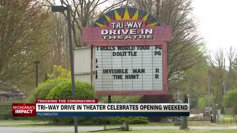 Tri-Way Drive-in Theatre in Plymouth reopens with some guidelines