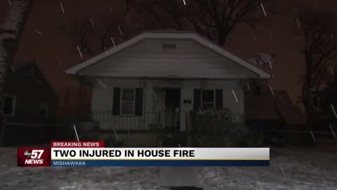 Two rushed to hospital after Mishawaka house fire
