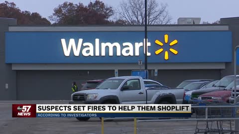 Two suspects arrested in Walmart arson investigation