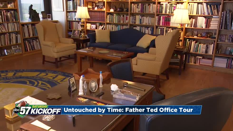 Untouched by time: Exclusive tour of Father Hesburgh's office