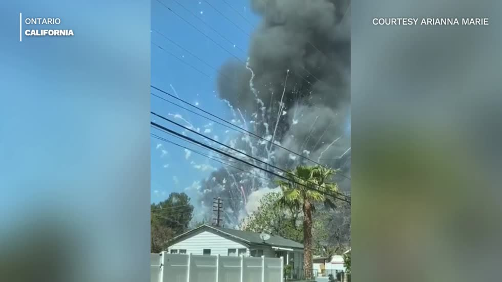 'Large amount of fireworks' spark explosion, house fire in California