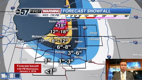 High impact, multi-day lake effect snow event