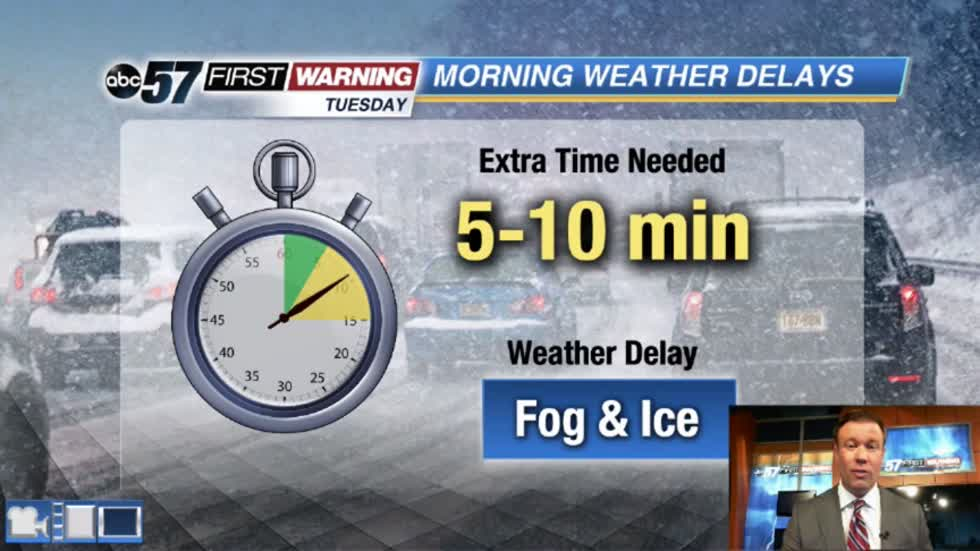 Mid-winter thaw brings threat of black ice and fog.