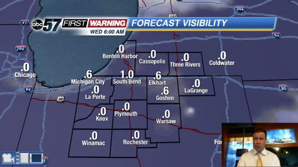 Dense fog and drizzle accompanies midweek warm-up