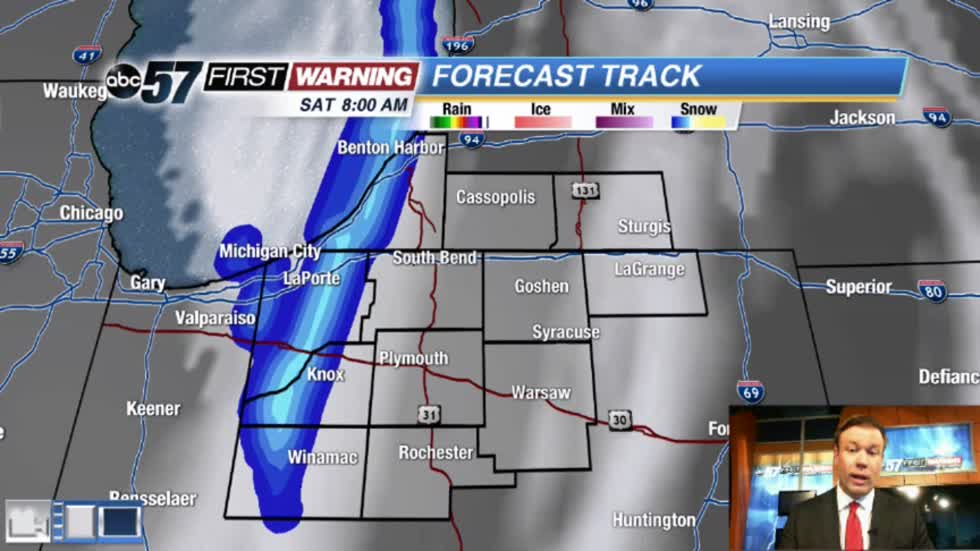Cold weekend, light lake effect Saturday