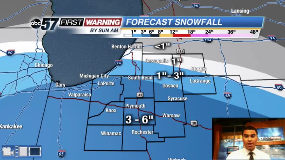 Snow spreads over Michiana today