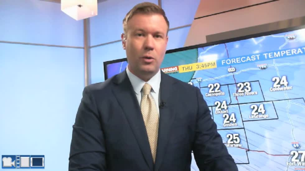 Cold and breezy Thursday, messy Saturday
