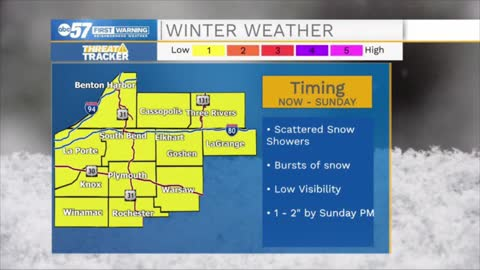 Snow falling through weekend, but low accumulations for most