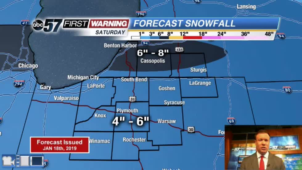 Snowy Saturday: Impactful winter storm