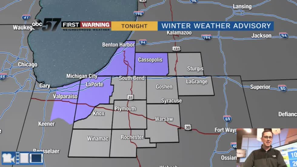 Snow ends Monday morning with another late week system ahead