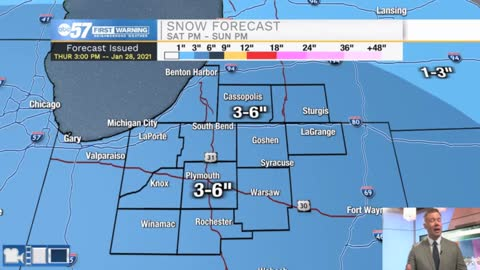 Sunday's Storm: Heavy wet snow early
